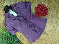 Блузка Рюши  13356 фиолетовый размер 42-46р
