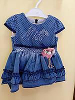 Джинсовое платье для маленькой мисс от 1 до 5 лет