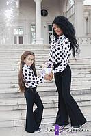 """Детские стильные брюки авторской коллекции 1501-18 """"Креп Клёш"""""""