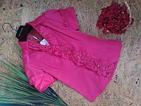 Блузка Рюши  13356 розовый размер 42-46р