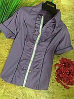 Блузка Рюши  13357 фиолетовый размер 42-46р