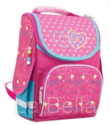 Ранец школьный каркасный  для девочки  Hearts