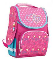 Ранец школьный каркасный  для девочки  Hearts  , фото 1