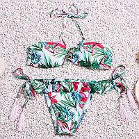 Женский купальник с цветами, размер L