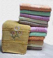 Полотенце банное Ромашка золото