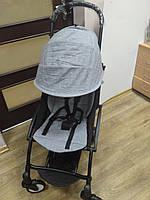 Детская коляска YOYA 175 А+ Melange gray, 4 ярусный капор, легкая, компактная Йойа серая