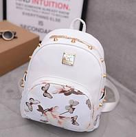 Женский рюкзачок с цветами Белый