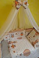 Балдахин в детскую кроватку 120/60 (расцветки в ассортименте) бежевый