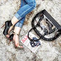 Набор: сумка, обувь Chanel черный