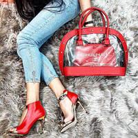 Набор: сумка, обувь Chanel красный