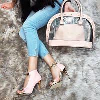 Набор: сумка, обувь Chanel пудра