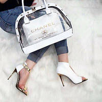 Набор: сумка, обувь Chanel белый