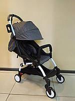 Детская коляска YOYA 175 А+ Graphite, 4 ярусный капор, легкая, компактная Йойа графитовая