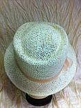 Шляпа  для лета средние поля  из рисовой соломки размер 55-57 см, фото 2