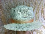 Шляпа  для лета средние поля  из рисовой соломки размер 55-57 см, фото 5