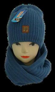 Комплект для мальчика шапка и хомут м 7053, разные цвета