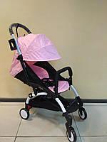 Детская коляска YOYA 175 А+ Light pink, 4 ярусный капор, легкая, компактная Йойа нежно розовый