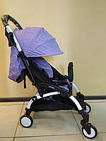 Детская коляска YOYA 175 А+ Mélange violet, 4 ярусный капор, легкая, компактная Йойа меланж лавандовый