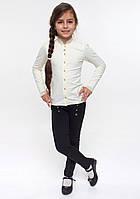 Блуза школьная с рюшей молочная ТМ СМИЛ