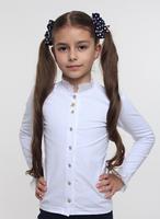 Блуза школьная с рюшей белая ТМ СМИЛ