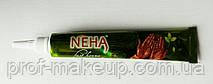 """Індійська хна """"NEHA"""" для тіла в тубі, коричнева."""