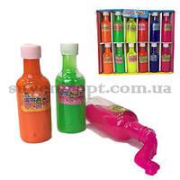Лизун сопли бутылка цветная 11 см  (12)