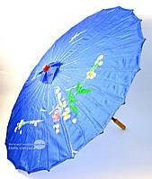 Зонт шелковый с рисунком L~53см, Ø~80см (1587)