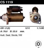 Стартер /1.1 кВт 10z/ Audi A3, Skoda Octavia, VW Bora, Golf, Passat 1.8-2.0