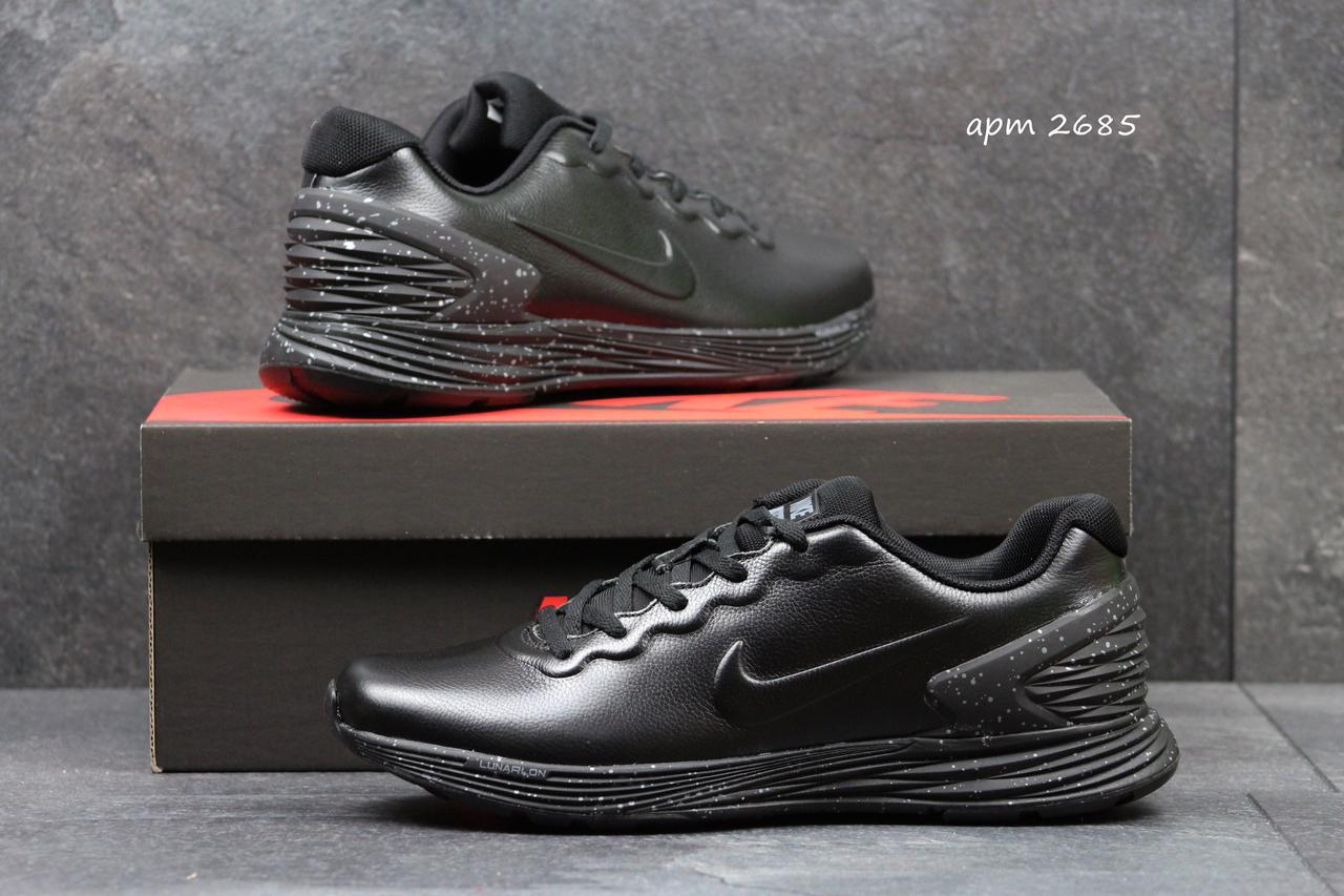 Модные кроссовки Nike Lunarlon черные