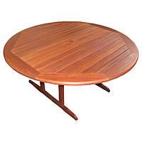 Круглый садовый стол Виенна из дерева мербау Ø 155 см