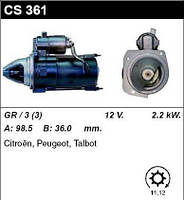 Стартер /2.2кВт z11-12/ Citroen C-25, Peugeot J5 2.5 D/TD