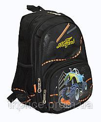 Школьный рюкзак для мальчика с ортопедической дышащей спинкой черный
