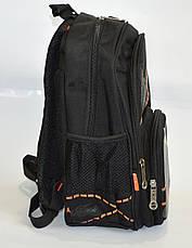 Школьный рюкзак для мальчика с ортопедической дышащей спинкой черный, фото 3