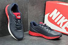 Модные кроссовки Nike Lunarlon темно синий с красным, фото 3