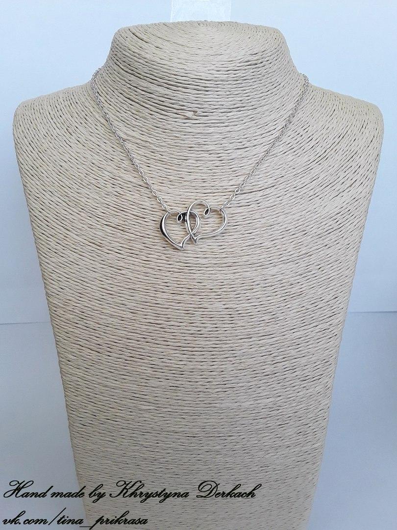 Подвеска кулон Сердца сердце серце с цепочкой