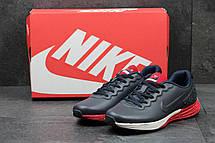 Модные кроссовки Nike Lunarlon темно синий с красным, фото 2