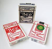 "Карты игральные ""Bee"" 9х6,5х1,8см (22886)"