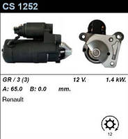 Стартер восст. /1,4кВт z12/ Renault Kango, Megane, 1,9DTi, DCi