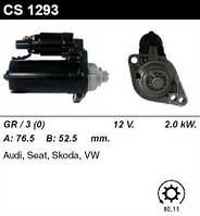 """Стартер відновл. /2.0 кВт z10-11/ Seat, Scoda, VW T5 03""""- 1.9 TDI"""