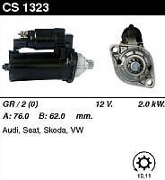 Стартер відновл. /2,0 кВт 10,11/ VW Golf V, Passat B6, T5, Tiguan 2,0 TDi