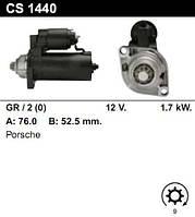 Стартер восст. /1,7кВт z9/ Porsche 911, Boxter, Cayman 99-