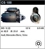Стартер восст. /2,0кВт z9/ Mercedes G-Klass, W123 2,4-2,9-3,0 (TD), MB 200