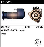 Стартер восст. /6,5кВт z11/ 24V Iveco EuroTrakker 13,8