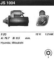 Стартер восст. /1,2кВт z8/ Hyundai Sonata I-II, Mitsubishi Galant V 1,8-2,0 АКПП