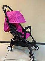 Детская коляска YOYA 175 А+ Melange raspberry, 4 ярусный капор, легкая, компактная Йойа меланж малиновый