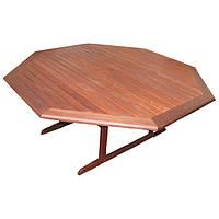 Садовый стол Виенна восьмиугольный из дерева мербау Ø 180 см
