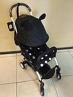 Детская коляска YOYA 175 А+ Mickey Mouse, 4 ярусный капор, легкая, компактная Йойа микки маус