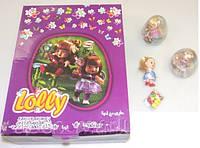 Прозрачное пластм яйцо Lolly с игрушкой и драже