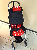 Детская коляска YOYA 175 А+ Minnie Mouse, 4 ярусный капор, легкая, компактная Йойа минни маус