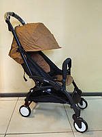 Детская коляска YOYA 175 А+ Brown, 4 ярусный капор, легкая, компактная Йойа коричневый